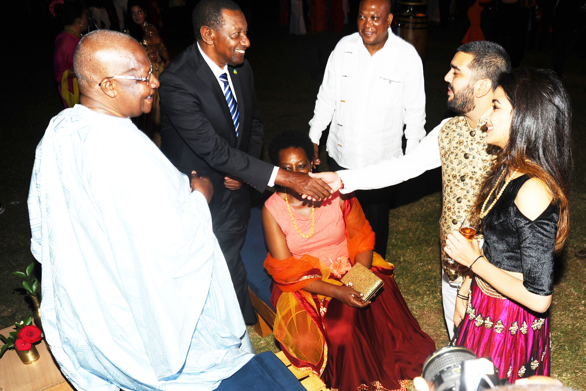 Foreign Foreign affairs minister for Uganda at Rajiv Ruparelia's wedding anniversary
