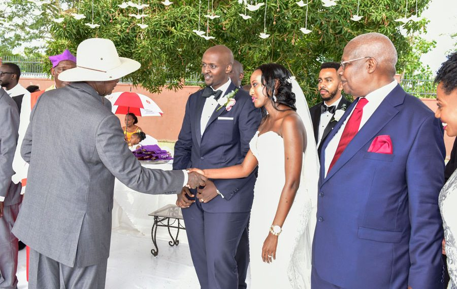Minister Kutesa's son weds late Aronda's niece in outdoor function
