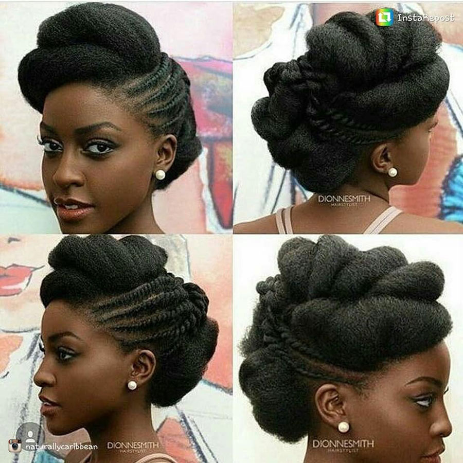Wedding Hairstyles In Uganda: Natural Hair Wedding Style Inspiration